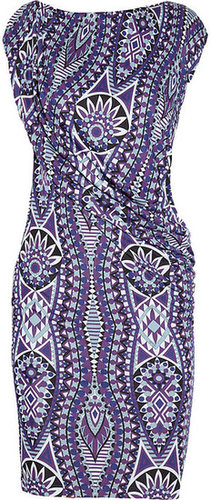 Emilio Pucci Mykonos printed satin-jersey dress