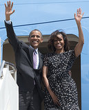 The Obamas waved to onlookers as they left Dar es Salaam, Tanzania, in July.
