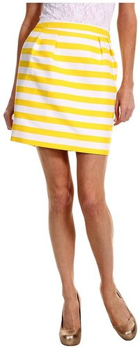 Kate Spade New York - Striped Barry Skirt (Donovan Yellow Petula Stripe) - Apparel