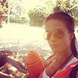 Alessandra Ambrosio snapped a pic before heading to yoga. Source: Instagram user alessandraambrosio