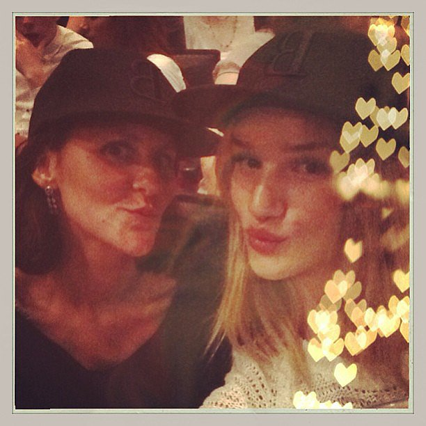 Rosie Huntington-Whiteley and her makeup artist sported matching baseball caps for the Beyoncé concert. Source: Instagram user rosiehw