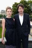 Natalia Vodianova and Antoine Arnault before the Christian Dior show on Monday.