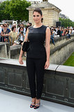 Gemma Arterton wore all black for the Christian Dior show on Monday.