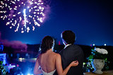 This Auburn wedding wowed with a gorgeous fireworks display. Photo by The Studio B Photography via Style Me Pretty