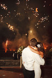 Fireworks lit up the sky at this wedding in Florence, Italy. Photo by Marisa Holmes via Style Me Pretty