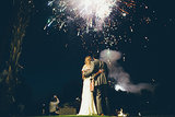 The newlyweds enjoyed the show. Photo by Jess Barfield Photography via