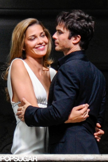 Ian Somerhalder shot an Azzaro commercial with model Ana Beatriz Barros.