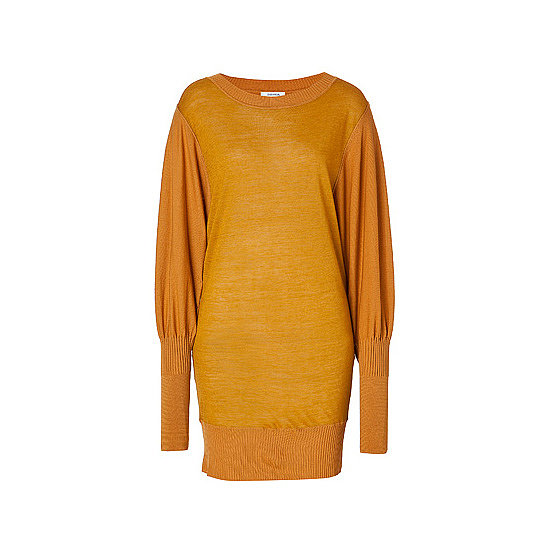 A jumper dress is a good option for a casual winter's day, just put with thick opaque tights and ankle boots and you're sorted. Plus this shade of gold will brighten up any Winter's day. — Laura, shopstyle.com.au country manager. Dress, approx. $352, Sonia By Sonia Rykel at Stylebop