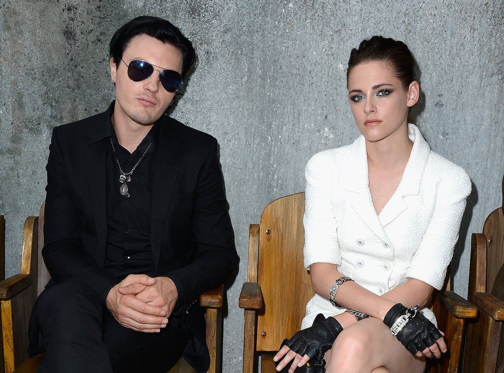 Michael Pitt and Kristen Stewart were front row neighbours at the Chanel show on Tuesday.