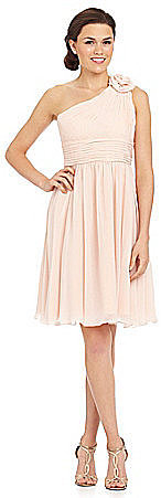 JS Collections Bridesmaid One-Shoulder Short Dress