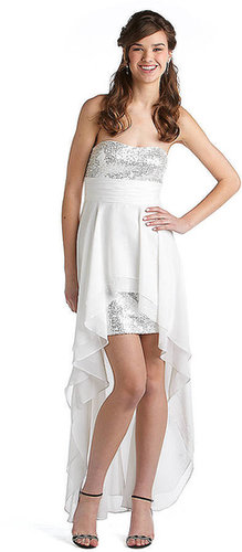 HAILEY LOGAN Sequined Hi-Lo Gown