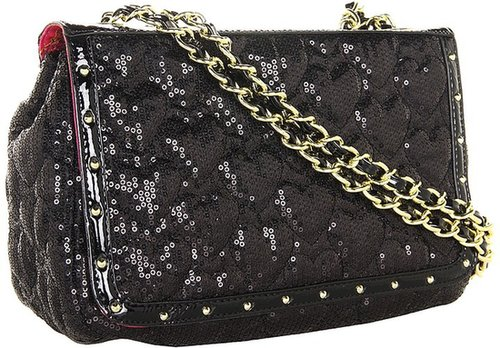 Betsey Johnson - High Sequencey Shoulder Bag (Black) - Bags and Luggage
