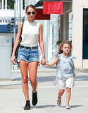Nicole Richie walked hand in hand with Harlow Madden.