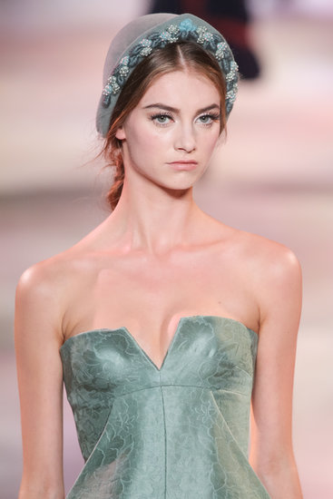 Like a sculpted sweetheart neckline, this dress from the Ulyana Sergeenko Haute Couture Fall 2013 show warranted a zoom.
