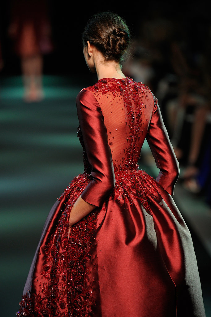 This Georges Hobeika Haute Couture Fall 2013 gown was just as gorgeous from the back as the front.