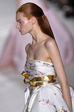 A golden bow on the Giambattista Valli Haute Couture Fall 2013 runway.