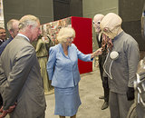 It was a tour of Who villains past and present! Prince Charles and the Duchess of Cornwall met the Silence and the Ood.