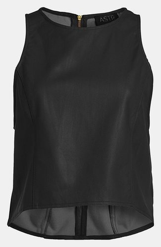 ASTR Faux Leather Crop Top