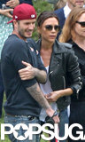 David and Victoria Beckham watched as their son Cruz played sports for his school.