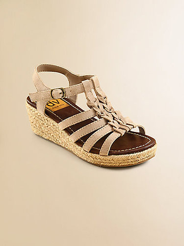 Girl's Braided Wedge Espadrille Sandals