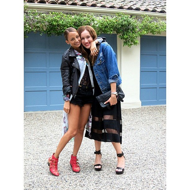Nicole Richie hung out with her fashionable friend Katherine Power. Source: Instagram user katherinepower