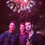 The Jonas Brothers enjoyed a fireworks display. Source: Instagram user kevinjonas