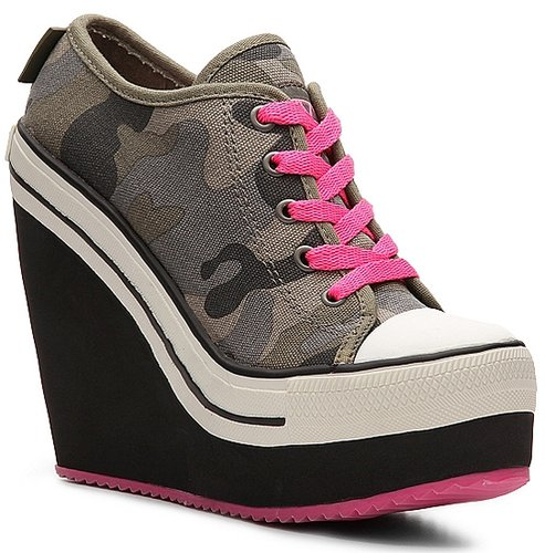 Rock & Candy London Camouflage Wedge Sneaker