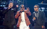 Justin Timberlake, Charlie Wilson and Pharrell Williams owned the stage at the July 1 2013 BET Awards in LA.