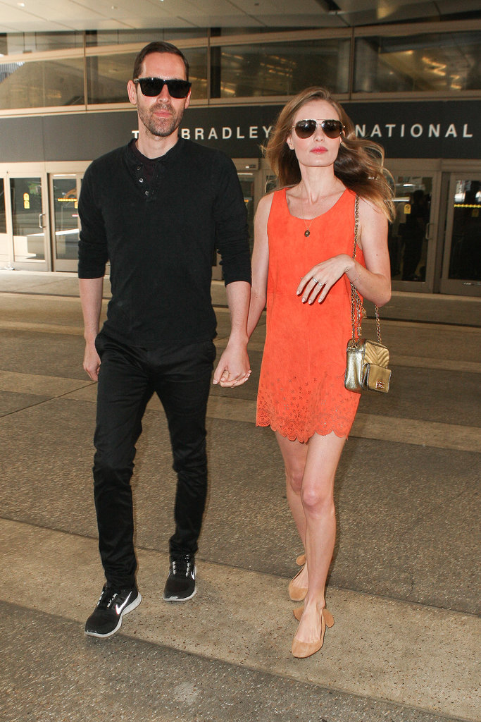 Stylish couple Michael Polish and Kate Bosworth left LAX on July 4, after returning home from a quick trip to South Korea.