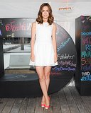 The little white dress felt super summery on Rose Byrne, who picked a high-necked mini for a DKNY event earlier this week. Source: Neil Rasmus/BFANYC.com
