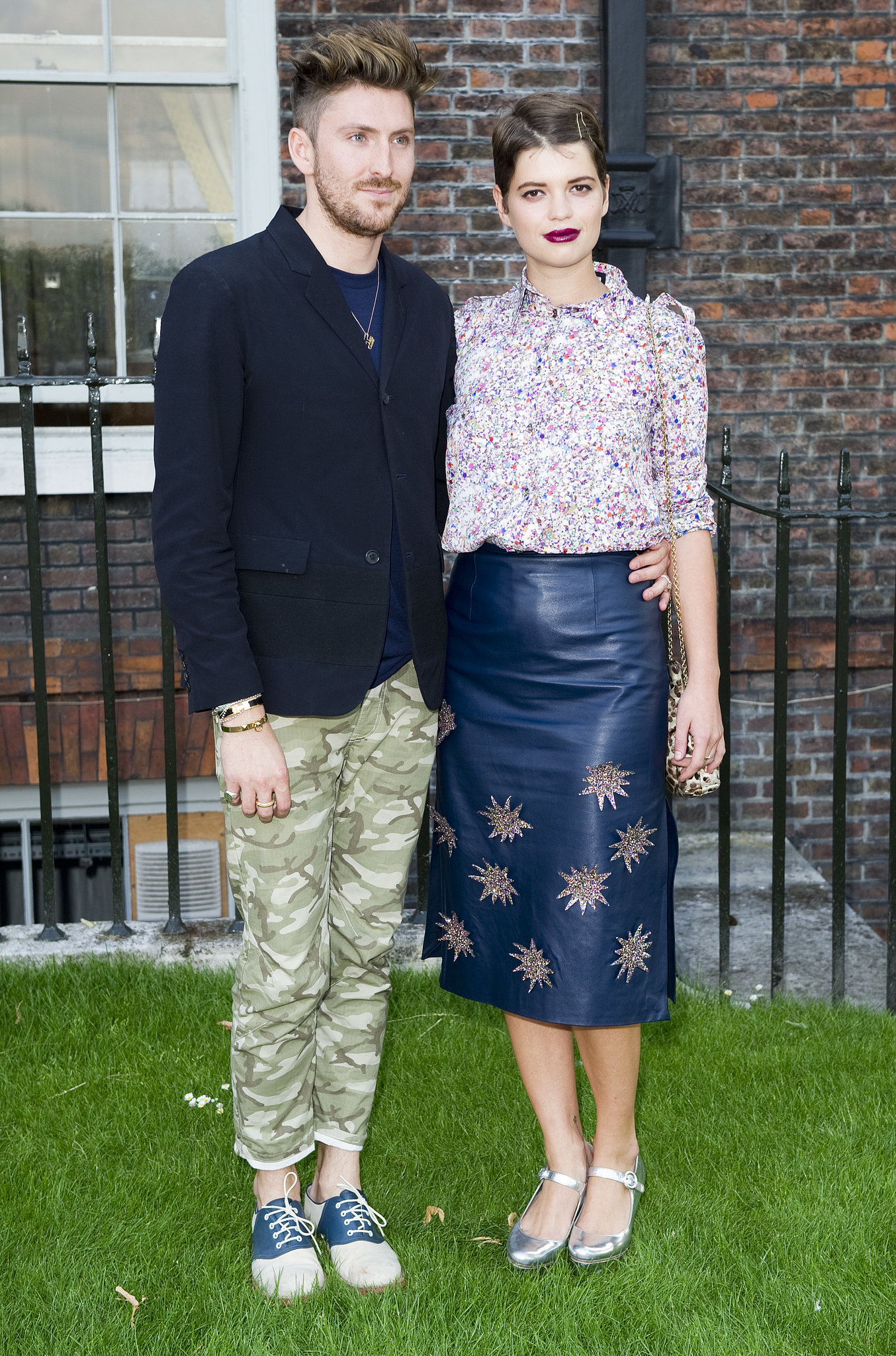 Henry Holland and Pixie Geldof joined forces in prints at the launch event for Fashion Rules at London'