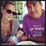 Molly Sims, Scott Stuber, and baby Brooks celebrated the Fourth of July in the Hamptons. Source: Instagram user mollybsims