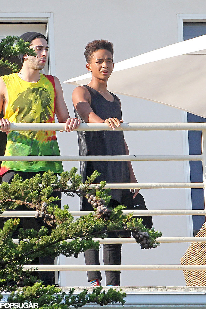 Jaden Smith celebrated the Fourth of July at his girlfriend Kylie Jenner's house in Malibu.