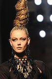 Some Jean Paul Gaultier models even wore tall twists that were spotted with a leopard-print design.