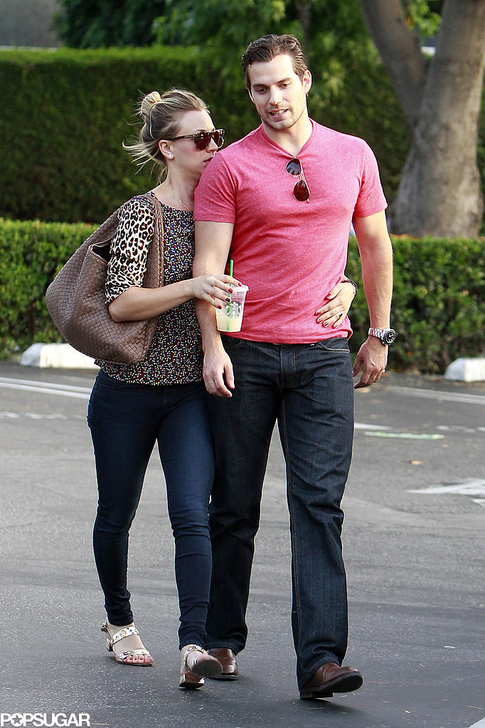 Haley Cuoco stayed close to boyfriend Henry Cavill.