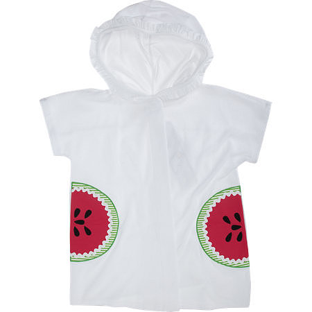 A cozy terrycloth cover-up ($60) is a Summer staple, no matter your age. This one has a ruffle-trimmed hood and watermelon pockets . . . yes, please!