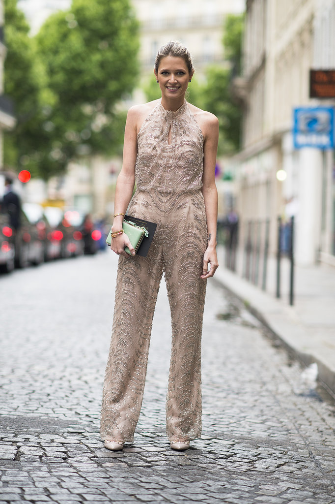 The chic jumpsuit can also be responsible for speeding up a morning routine: one piece and you're done! Source: Le 21ème | Adam Katz Sinding