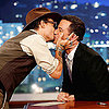 Johnny Depp Kissing Jimmy Kimmel