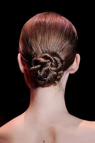 Of all our Haute Couture Fashion Week coverage, this twisted chignon from the Elie Saab runway was the most repinned hairstyle.