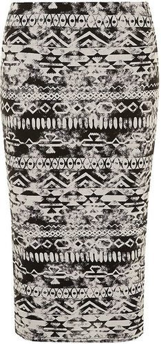 Stone Aztec tube skirt