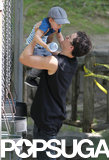 Orlando Bloom spent quality time with his son, Flynn.