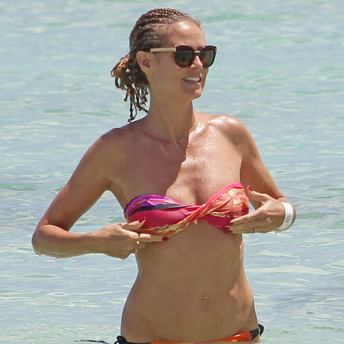 Heidi Klum Wearing a Bikini in the Bahamas | Pictures