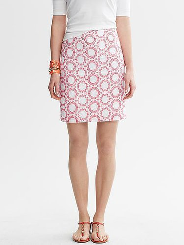 Milly Collection Circle Embroidered Skirt