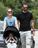 Natalie Portman was smiley during an afternoon in LA with her husband, Benjamin Millepied, and their son, Aleph.