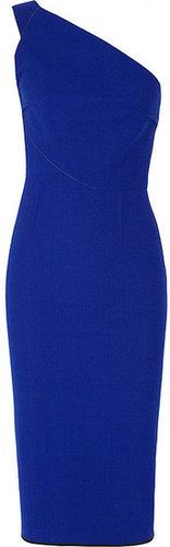 Roland Mouret Belmont one-shoulder wool-crepe dress