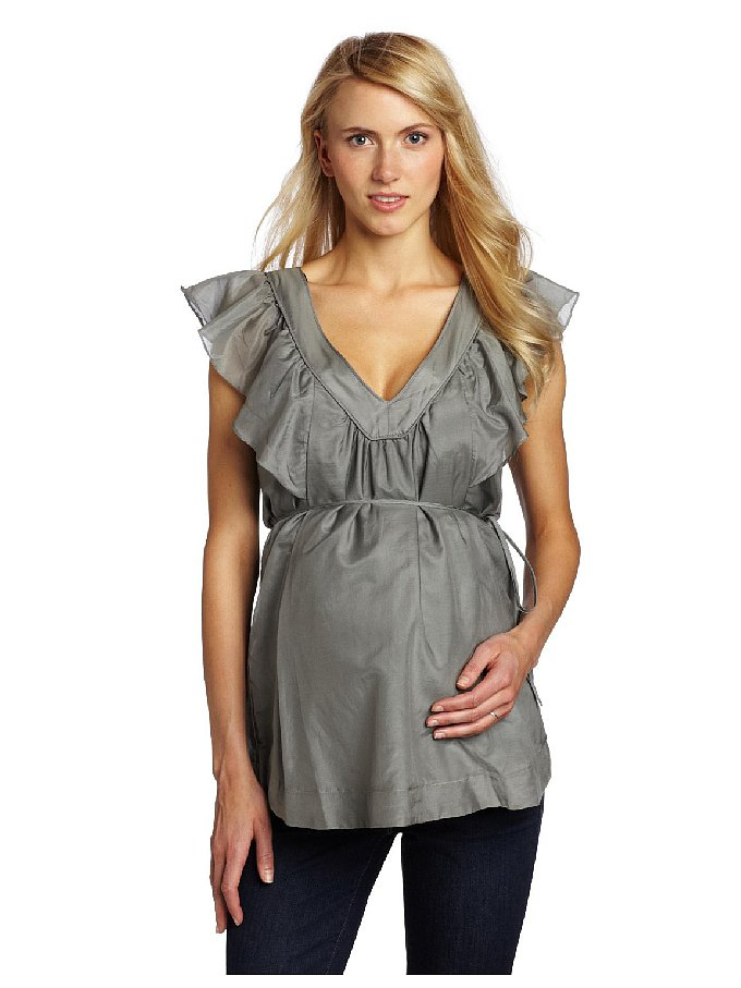Headed to a formal event this season? The breathable fabric of this Ripe Maternity silk cotton feeding top ($107) is both practical and pretty.