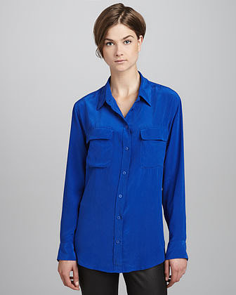 Equipment Signature Vintage Wash Two-Pocket Blouse