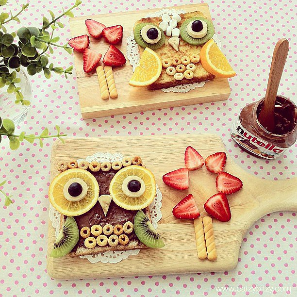 What a hoot! Nutella, kiwi, Cheerios, and more come together for a super savory treat. Source: Instagram user leesamantha
