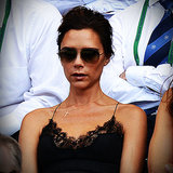 Victoria Beckham in a Slip Dress at Wimbledon | Video