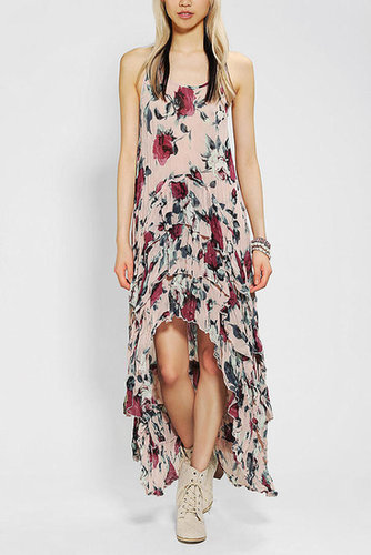 KNT By Kova & T Floral Chiffon Maxi Dress